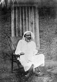 Tippu Tip or Tib (1837 – June 14, 1905), real name Hamad bin Muḥammad bin Jumah bin Rajab bin Muḥammad bin Sa'īd al-Murghabī, (Arabic: حمد بن محمد بن جمعة بن رجب بن محمد بن سعيد المرجبي‎), was a Swahili-Zanzibari trader. He was famously known by the natives of East Africa as Tippu Tib after the sounds that his many guns made. A notorious slave trader, plantation owner and governor, who worked for a succession of sultans of Zanzibar, he led many trading expeditions into Central Africa, involving the slave trade and ivory trade. He constructed profitable trading posts that reached deep into Central Africa.<br/><br/>  He built himself a trading empire that he then translated into clove plantations on Zanzibar. Abdul Sheriff reported that when he left for his twelve years of empire building on the mainland, he had no plantations of his own. However, by 1895, he had acquired 'seven shambas [plantations] and 10,000 slaves'.<br/><br/>  His mother, Bint Habib bin Bushir, was a Muscat Arab of the ruling class. His father and paternal grandfather were coastal Swahili who had taken part in the earliest trading expeditions to the interior.<br/><br/>  He met and helped several famous western explorers of the African continent, including Henry Morton Stanley. Between 1884 and 1887, El Murgebi claimed the Eastern Congo for himself and for the Sultan of Zanzibar, Bargash bin Said el Busaidi. In spite of his position as protector of Zanzibar's interests in Congo, he managed to maintain good relations with the Europeans.<br/><br/>  Around 1890/91, he returned to Zanzibar where he retired. He wrote his autobiography, which is the first example of this literary genre in Swahili. El Murgebi wrote his autobiography in Swahili in Arabic script. Dr. Heinrich Brode, who knew him in Zanzibar, transcribed the manuscript into Roman script and translated it into German. It was subsequently translated into English and published in Britain in 1907.<br/><br/>  He died June 13, 1905, of malaria (according to Brode) in his home in Stone Town, the main town on the island of Zanzibar